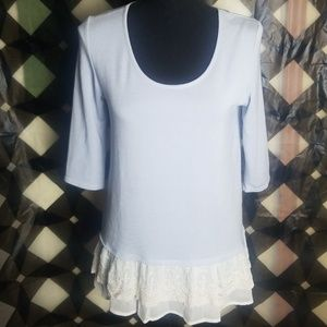Living Doll Lace Ruffle Top